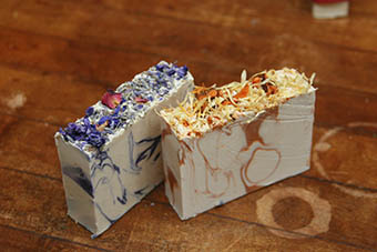 Varieties of soap you will find at The Spirit Goat Soap Shop.