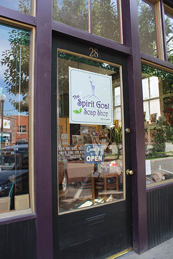 Storefront at The Spirit Goat Soap Shop on Federal Avenue